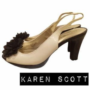 Karen Scott Open Toe Kremlin Flower Heels